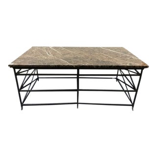 Art Deco Marble Top Coffee Table For Sale