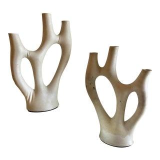 """Souda """"Kreten"""" Handmade Concrete Candelabra - a Pair For Sale"""
