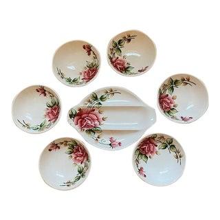 Lefton 'Americana Rose' Serving Platter and Bowls - Set of 7 For Sale