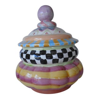 1980s Mackenzie Childs Covered Jar For Sale