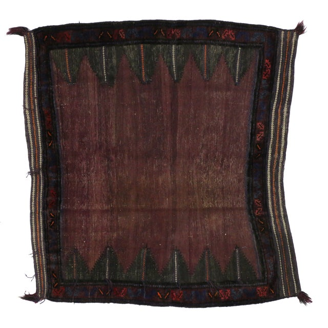 "Vintage Afghan Saddle Bag - 4'3"" x 4'8"" - Image 5 of 5"