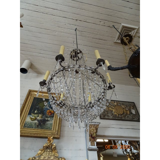 Metal 18th Century Empire Crystal Chandelier For Sale - Image 7 of 13