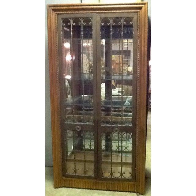 Bernhardt Wood, Glass & Iron Curio Cabinet - Image 2 of 5