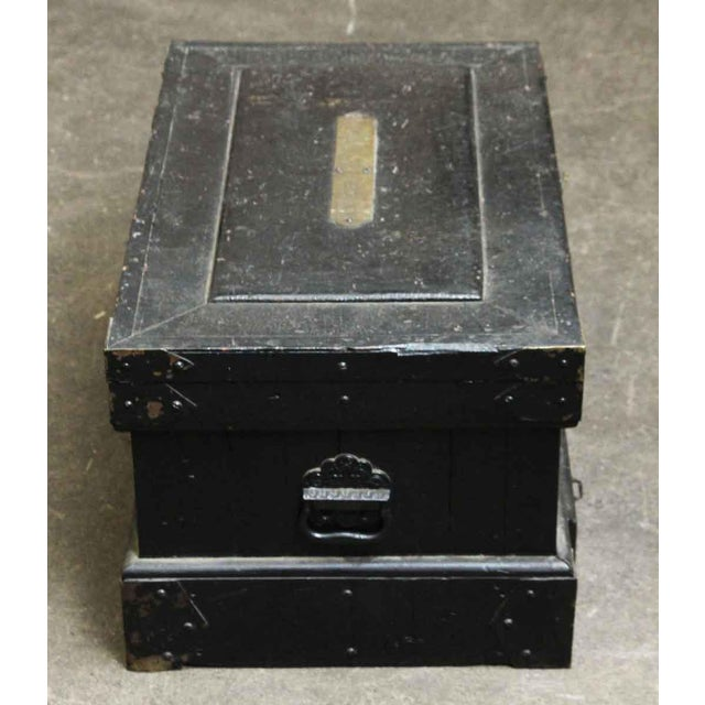 Vintage Accessories Box With Iron Straps For Sale - Image 10 of 10
