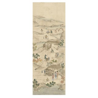 Coutts Hand Painted Chinoiserie Panel For Sale