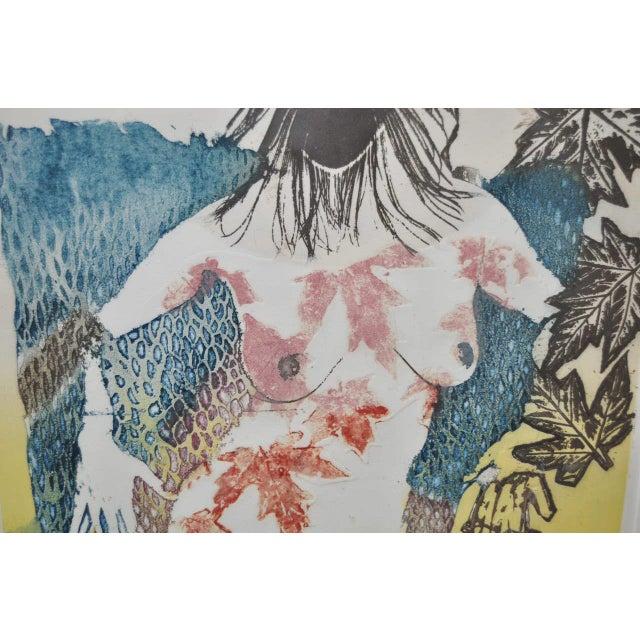 "Aquatint Circa 1986 Sasha Wasko ""Life Cycle - Fall"" Aquatint Etching For Sale - Image 7 of 10"