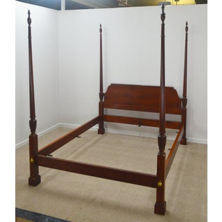 20th Century Federal Baker Queen Size Mahogany Poster Bedframe Preview
