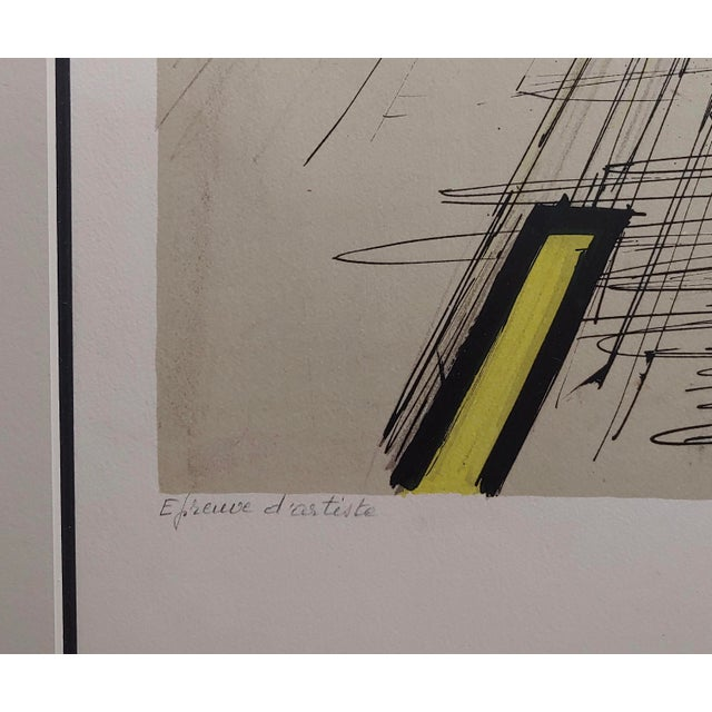 Bernard Buffet - French Street -Original 1961 Artist Proof Lithograph For Sale In Los Angeles - Image 6 of 10