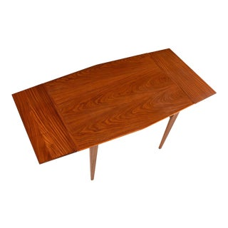 Danish Modern Style Removable Leaf Walnut Dining Table, Circa 1950's