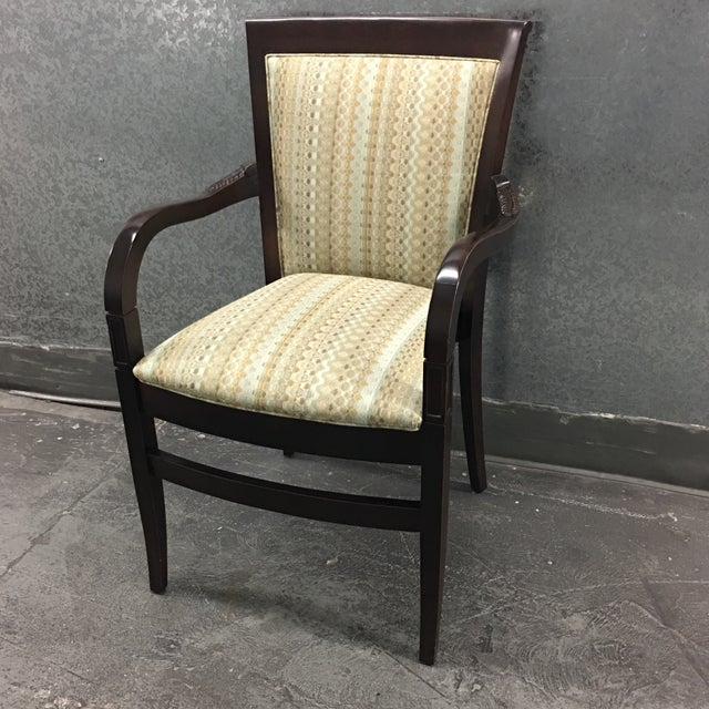 Hickory Geometric Upholstered Sticking Chair - Image 3 of 7