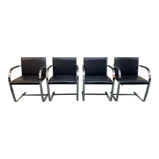 Ludwig Mies Van De Rohe Brno Chairs by Gordon International - Set of 4 For Sale