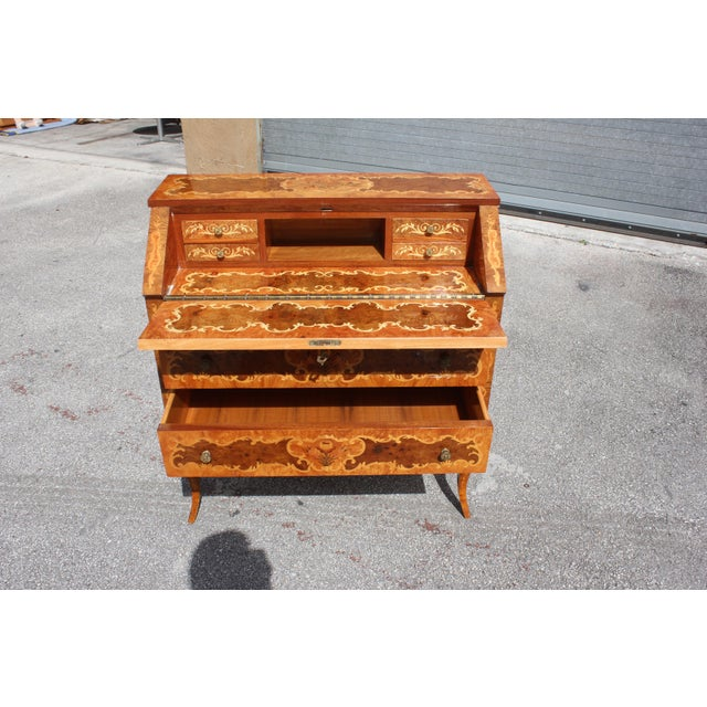 1950s Italian Louis XV Style Luxury Secretary Desk For Sale - Image 9 of 13