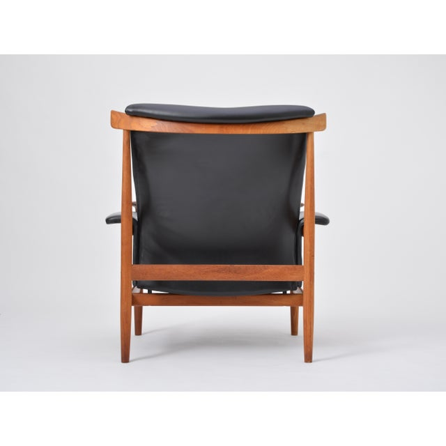 Black Reupholstered Bwana Model 152 Lounge Chair by Finn Juhl for France & Son For Sale - Image 11 of 12