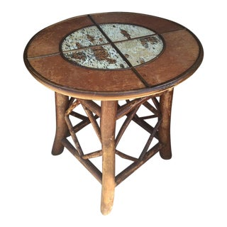 Western Rustic Birch & Log Cabin Pub Table For Sale