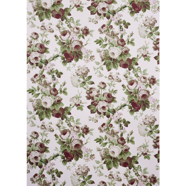Voluptuous rose blossoms are the hallmark of Nancy, a crisp floral that's printed in France. It's an exuberant pattern in...