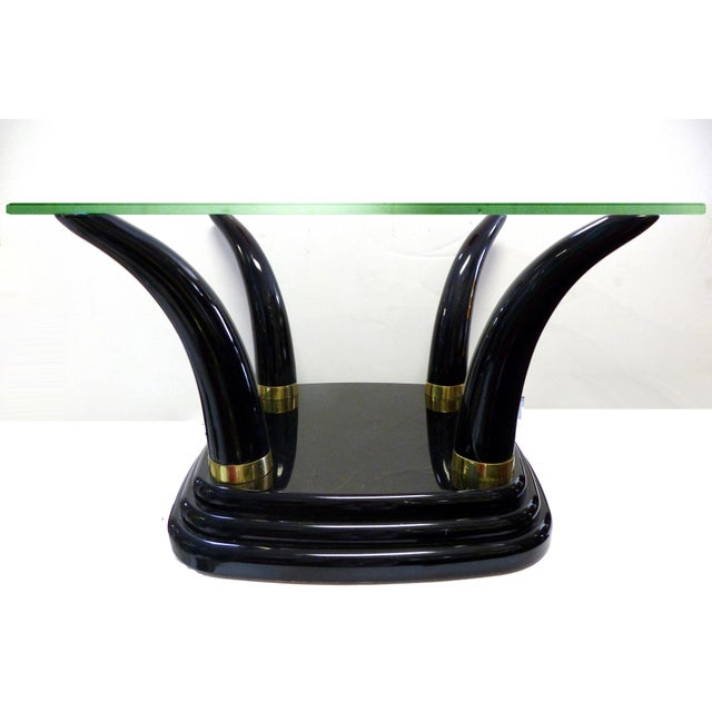 Henredon Lacquered Tusk Coffee Table Base For Sale - Image 5 of 8