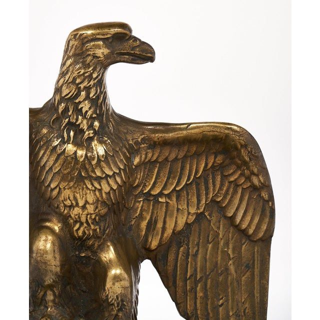 Metal French Antique Bronze Eagle Statuette For Sale - Image 7 of 10