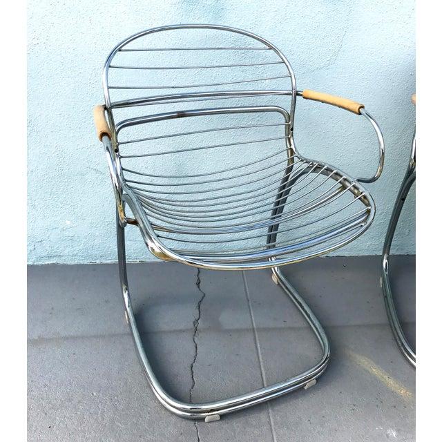 1970s Gastone Rinaldi for Rima Linea Chrome Tubular Chairs - A Pair - Image 7 of 9
