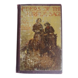 1912 Antique First Edition, Riders of the Purple Sage Book by Zane Grey For Sale