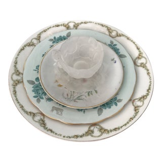 Early 20th Century Vintage China Table Setting - Set of 5 For Sale