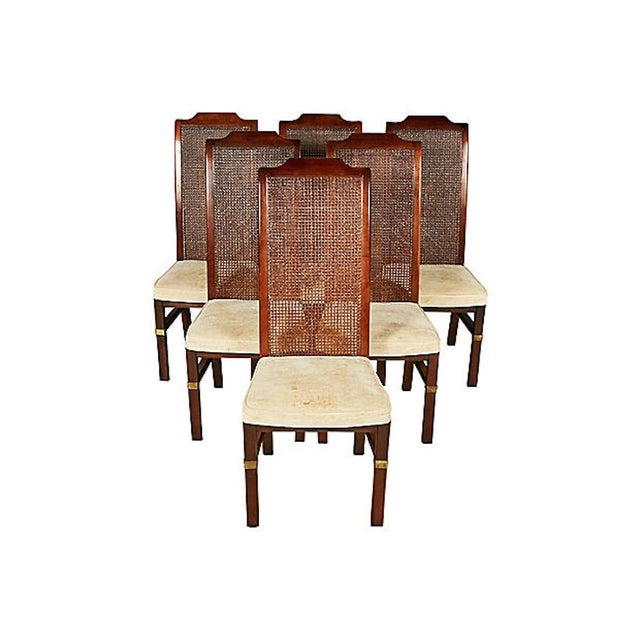 Henredon Caned Dining Room Chairs, Set Of 6