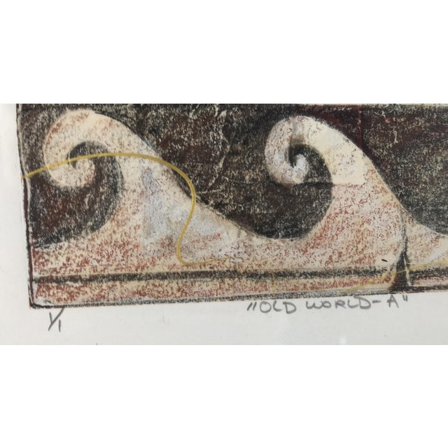 "Modern 20th Century ""Old World"" Watercolor Painting For Sale - Image 3 of 6"