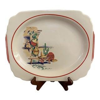 Vintage Homer Laughlin Hacienda Platter Batter Tray For Sale