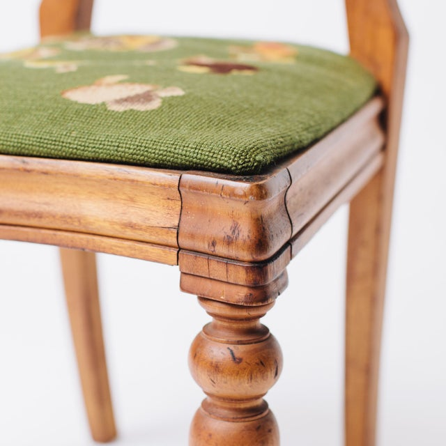 Shield Back Side Chair With Petit Point Seat For Sale In Los Angeles - Image 6 of 6