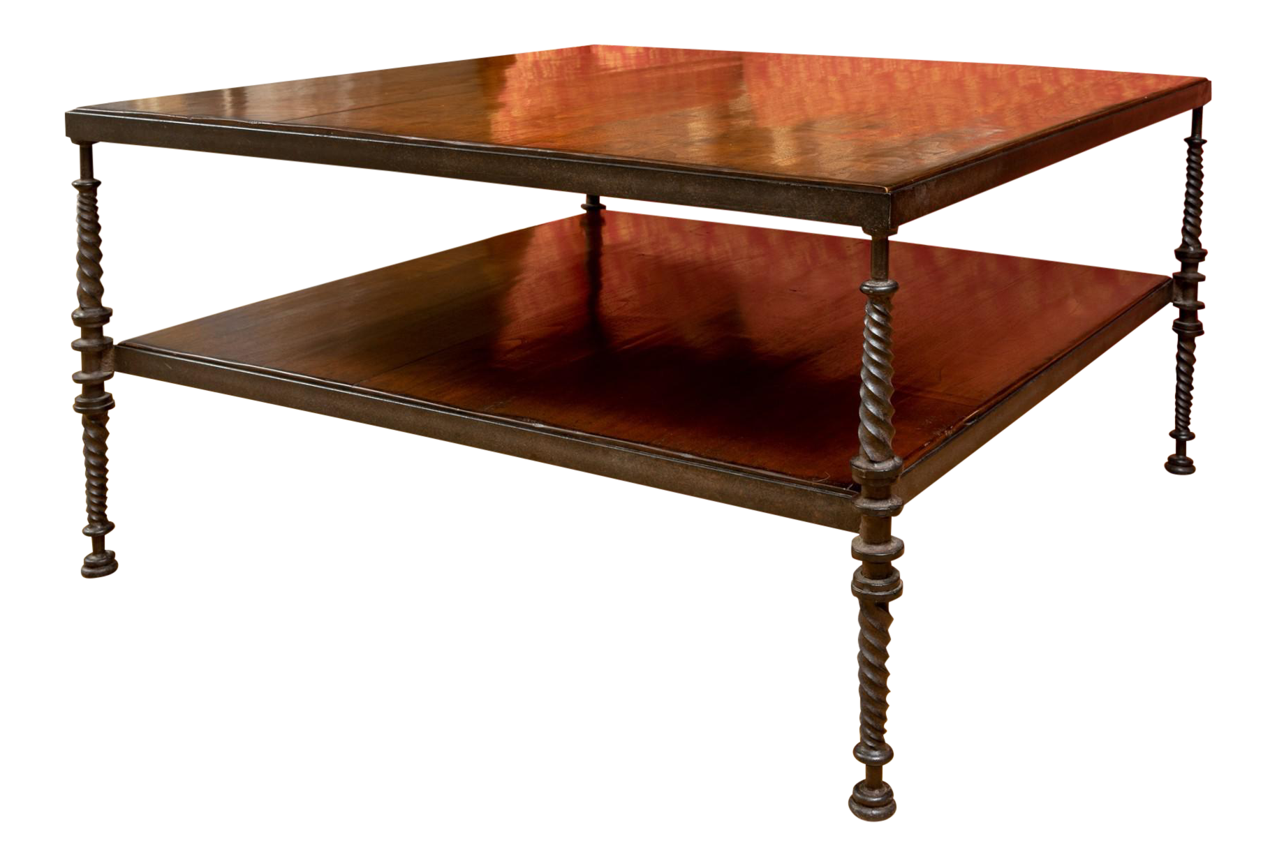 Picture of: Paul Ferrante Madison Coffee Table In Wrought Iron Chairish
