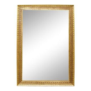 Carved Italian Napoli Gold Giltwood Mirror by Randy Esada Designs For Sale