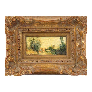 20th Century Alexandre Mediterranean Landscape Miniature Painting