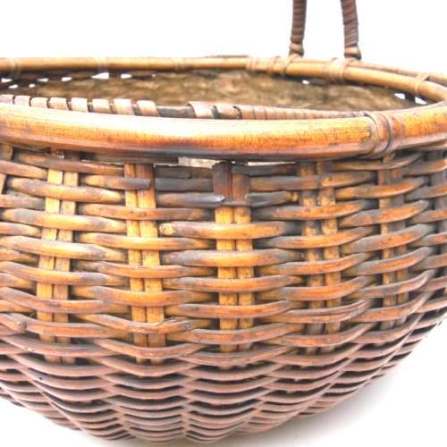 Japanese Bamboo Basket Ikebana Flower Antique Vase Flower Sumikago For Sale - Image 10 of 13