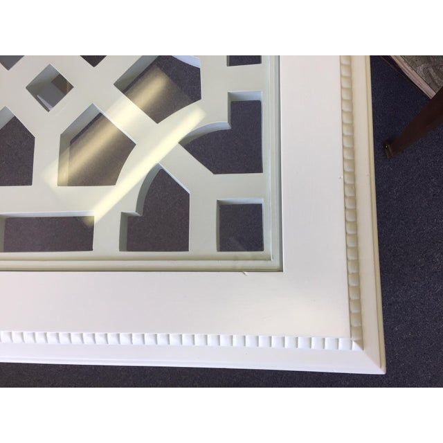 1950s Vintage Chinese Chippendale Style Fretwork Design End Table For Sale - Image 9 of 11