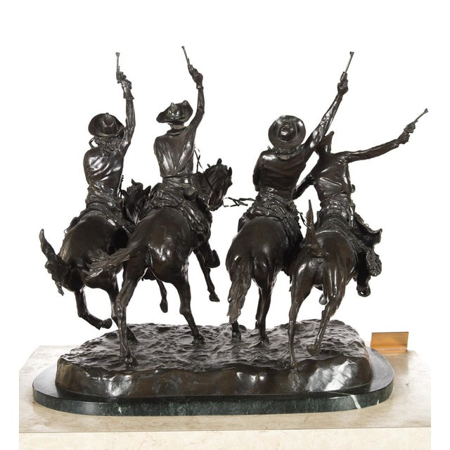 "F. Remington ""Coming Through the Rye"" Bronze Sculpture - Image 10 of 11"