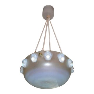 "French Art Deco Chandelier by Rene Lalique ""Madagascar"" For Sale"