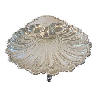 Silver Shell Shaped Bowl For Sale