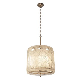20th Century Molded Crystal Pendant Light For Sale