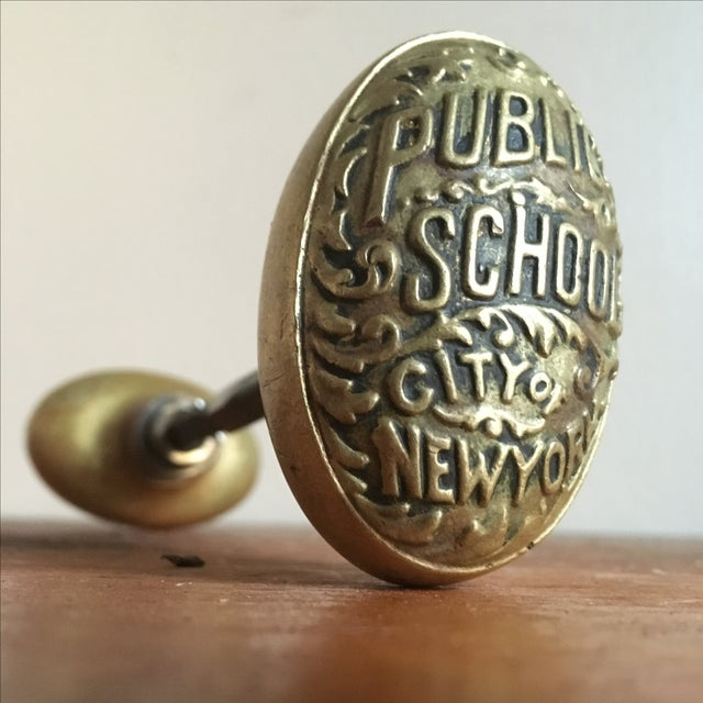 Incredibly rare antique New York City public schools doorknobs. These were often found on classroom doors or on closet...
