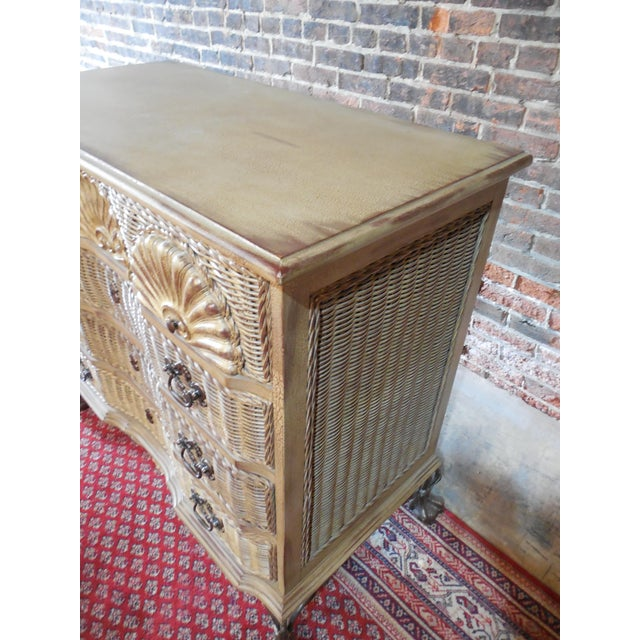 Block Front Chippendale Style Claw Footed Paint Distressed Shabby Chic Chest - Image 4 of 8