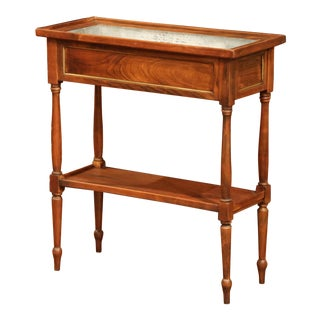 Early 20th Century French Louis Philippe Walnut Jardinière With Zinc Liner