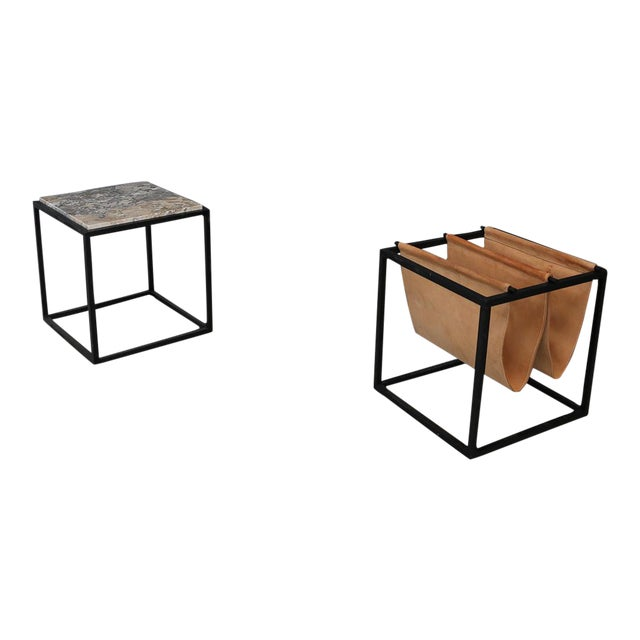 Domino Magazine Rack With Table by Jorge Zalszupin For Sale