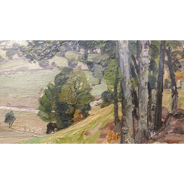 George Gardner Symons-A View down to the Farm-Oil painting-Important Impressionist For Sale - Image 4 of 10
