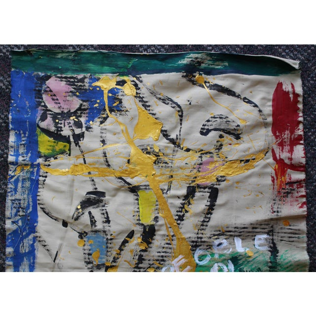 Korean Abstract Expressionist Textile Fabric Painting by Younghui-Kim - Image 4 of 9