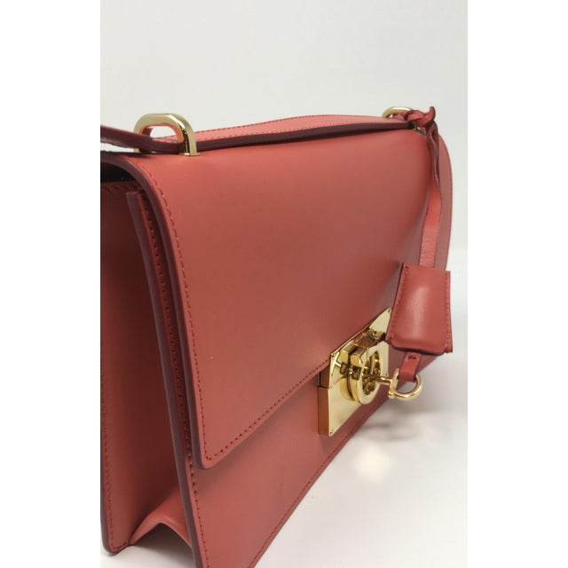 Leather Beautiful Rouge Box Leather Salvatore Ferragamo Top Handle or Cross Body Bag For Sale - Image 7 of 12
