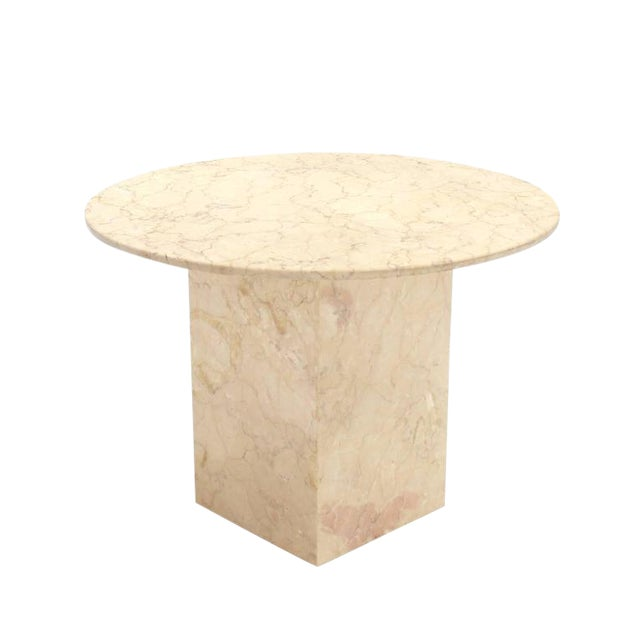Vintage Mid Century Marble Base and Top Gueridon Center Table For Sale - Image 6 of 6