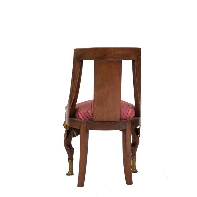 19th Century French Empire Mahogany Side Chair For Sale - Image 5 of 6