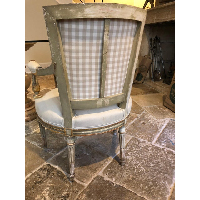 Painted and Gilt Napoleon III Fauteuils - Set of 4 For Sale In Washington DC - Image 6 of 13