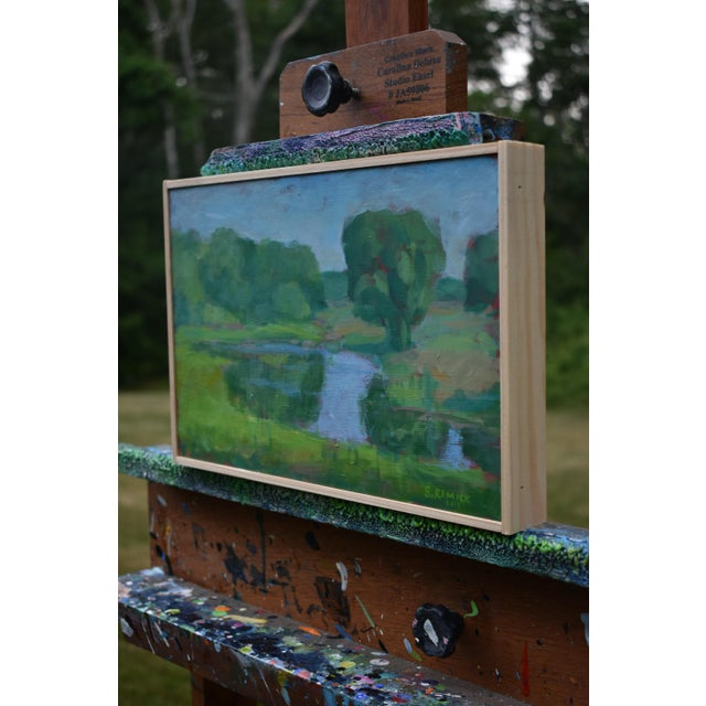 "Stephen Remick ""The Frog Pond"" Contemporary Plein Air Painting For Sale In Providence - Image 6 of 9"