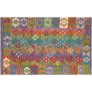 "Nalbandian - Contemporary Afghan Maimana Kilim - 3'3"" X 4'11"" For Sale"