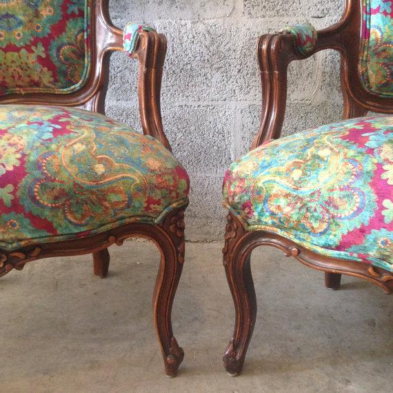 Multicolor Louis XVI Chairs - A Pair - Image 5 of 6